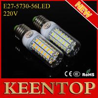 Ultra Bright E27 SMD Cree 5730 220V Led`Pendant  Lights 56Leds 18W Corn Bulb Solar Lamps Energy Efficient Lighting 10Pcs/Lot