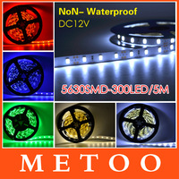 New Arrival 5630 SMD LED flexible Strip 12V Non Waterproof 60LED/m Bar light  Warm white \ White \ bule \ red \ green five color