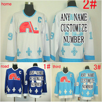 Custom Throwback discount nhl jersey Quebec Nordiques jersey Home/Away/Alternate/white Embroidery Logo Sewn on Any Name/NO./size