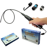 Free shipping!Dia 7mm 6 LEDS USB Snake Inspection Endoscope Tube Camera+Hook+Mirror+Magnet