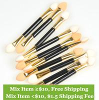 Lots 10pc Cosmetic Beauty Eyeshadow Eyeliner Dual Ended Brush Make Up Tool Set