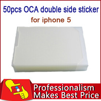 FREE SHIPPING factory on sale 50pcs OCA  optical clear adhesive 250um double side sticker for iphone 5 and LCD glass repair