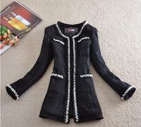 Wool Coat Woolen Desigual Coat Women's Coats Wool And Blend Jacket Full Sleeve O-Neck Covered Button White Winter Coat Women E01