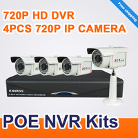 KAVASS 4CH channel  NVR Outdoor 720P HD IP POE Wired Outdoor video surveillance Home Security cctv Camera System  CLG-4D100005