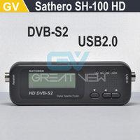 1PC Free Shipping Original Sathero SH-100HD Pocket Digital Satellite Finder Satellite Meter HD Signal Sat Finder with DVBS2 USB