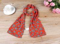 1PC 20*150cm Fashion Design  Peace Symbol Printing Milan Linen silk scarf/WJ-134