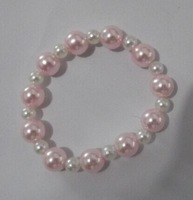 wholesale baby jewelry chidren bracelet pearl white pink fashion  girl jewelry