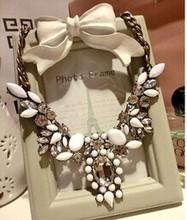 2014 New Fashion Chain Choker Shourouk Vintage Rhinestone Alloy Ethnic Bib Statement Necklaces & Pendants Women Jewelry Gift