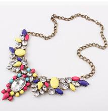2014 New Fashion Chain Choker Shourouk Vintage Rhinestone Alloy Ethnic Bib Statement Necklaces Pendants Women Jewelry