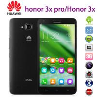 "Original 5.5"" Huawei Honor 3X Pro MTK6592 Octa Core 16GB Rom Android 4.2 2GB Ram LTPS FHD IPS Screen 13MP Camera Dual Sim Card"