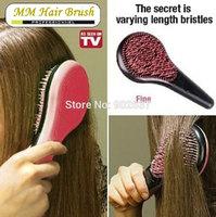 Stock Free Shipping British Queen Brush Detangle Brush Tangle M Mercier Hair Brush Massage Comb As Seen On TV HB-04