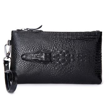 Crocodile Натуральная кожа Женщины Day Clutch Модный Handbags Alligator Embossed ...