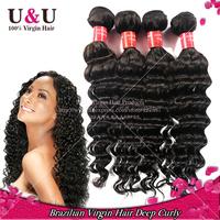 Rosa Hair Products Brazilian Virgin Hair Deep Wave 4pcs Lot 6A Grade Unprocessed Virgin Brazilian Deep Wave Human Hair Weaves