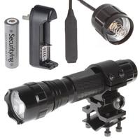 2000Lm CREE XML T6 5 Mode LED Flashlight Torch Flash Light + Remote Pressure Switch & Ring Bracket + 1 x 18650 Battery