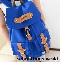 New 2014 Fashion Mochila Femininas Woman Korean String Canvas Backpack School Bag for Teenage Girls Big Casual Travel Laptop Bag