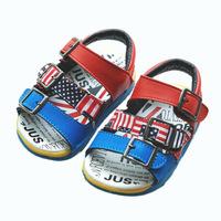 2014  new children shoes sandals baby boy girls sandals soft bottom toddler shoes infant sandals flags sandals
