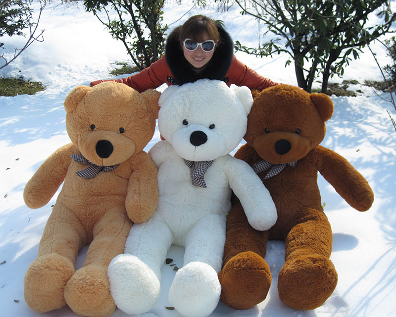 Factory direct sale plush toys Teddy bear 80 cm large doll doll The wedding gift wholesale and sale(China (Mainland))