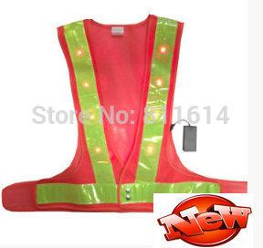 Mesh Traffic Reflective Safety Vest With16 LED LED Warning Vest, Safety Products(China (Mainland))