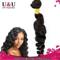 1PC Indian Virgin hair loose wave rosa hair products Virgin indian loose wave curly hair 100% unprocessed indian hair extensions