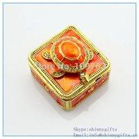Handmade enamel trinket box with tortoise shape for christmas gifts  SCJ765