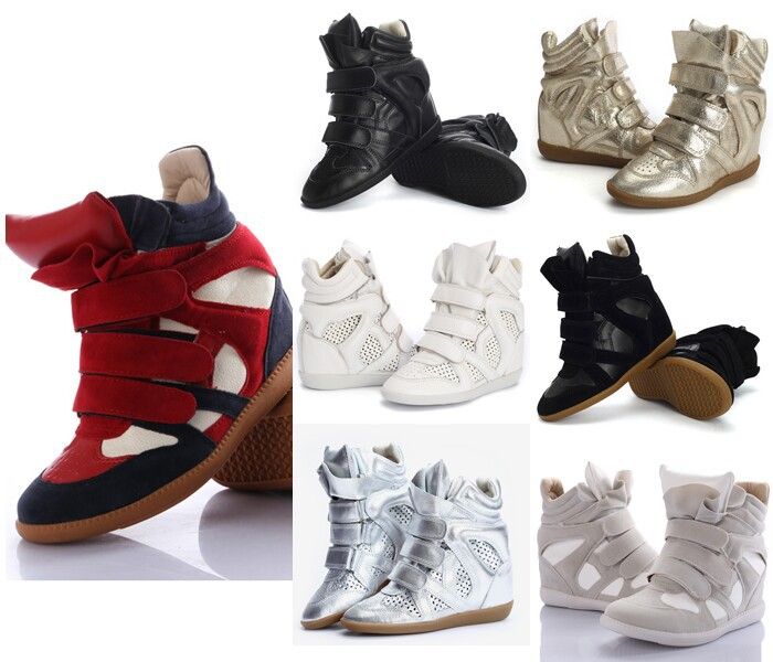 100% High Quality Women Sneakers Isabel Marant Sneakers Boots Wedge Platform Sneakers Women Brand Shoes Free Shipping(China (Mainland))