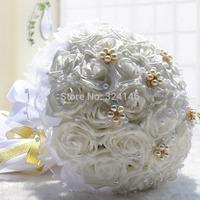 30 pcs flowers Gorgeous pearl rose wedding bouquets bride bouquet bridal ball-flower accessories valentine's day D195