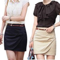 HOT! Wholesale Price Spring Summer Korean Style Office Lady High Waist Hip-Packet Mini Skirt