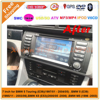 Car DVD player for BMW E39 X5 E53 E38 built in GPS Bluetooth Radio ATV USB SD IPOD RDS Canbus + Free shipping Free map