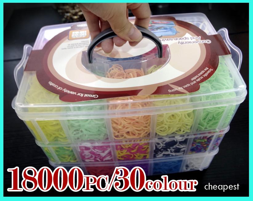 18000 PC 200 s- Clip +2 mostro coda + 2 orignal gancio diy telaio in lattice di silicone bande ricariche kit set 3 strati scatola regalo del bambino