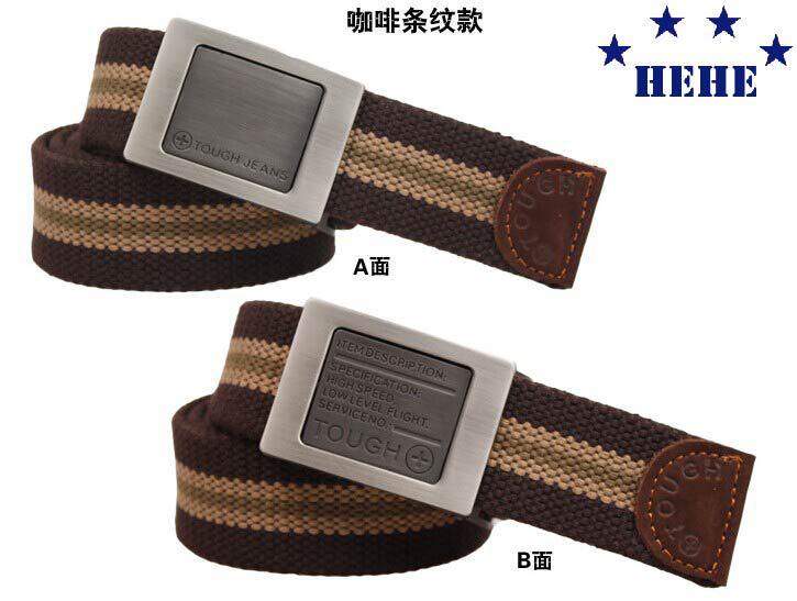 New Hot 2 sides changed style brand belt 2014 strong canvas belt mens gift unisex fashion belt women free shipping(China (Mainland))