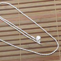 N226 wholesale 925 sterling silver necklace, 925 silver fashion jewelry Shine Twisted Line 2mm 16 18 20 22 24 inches Necklace
