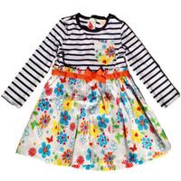 girls apparel 3~12age child long seelves winter flower girl dress children's apparel