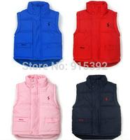 Retail Brand Child Outerwear, baby waistcoat Winter High quality children cotton vest Kids boys and girls parka vest warm coat