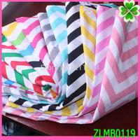100*145cm /pcs Brand Polyester cotton Chevron fabrics , Colorful Chevron fabric for women's dresses,100% cotton cloth