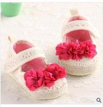2014 new fashion sandals toddler shoes soft soled baby shoes menina tenis feminino dimensional flowers Velcro sandalias sapatos(China (Mainland))