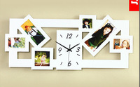 crafts Big digital  wooden photo frame wall clock modern design large home decoration,novelty items and home use wholesale