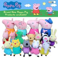 2015 Brinquedos 16PCS/Lot Peppa Pig Family Wholesale Plush Toys High Quality Washable Kids Toddler Toys Stuffed Animals & Plush