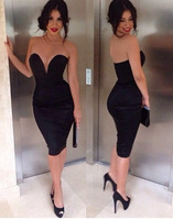 HOT the latest in 014 in front of large V sexy bra slim Bandage dress Party Dress mini sexy bodycon dress S M L XL