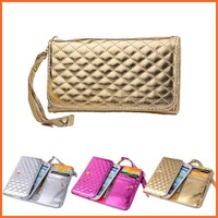 Luxury Universal Wallet phone bag Case For NOKIA Lumia 1020 920 925 928 glitter Leather women handbag with wrist strip (M)