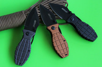 3 colors for your choose, EDC folding knives, black /golden/grey oxide surface Grenade folding blade,free shipping!