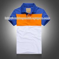 Free shipping 2014 Hot Summer boutique men's classic striped shirt lapel priced wholesale fashion men's T-shirt