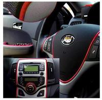 Practical 5 Colors Hight Quality Auto Car Interior Decoration moulding Trim Strip line / Autocar Accessories 3meter/lot N533