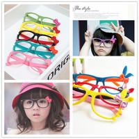 2014 kids eyeglasses frames child kids designer brand fashion Myopia optical eye glasses frame boy girl clear lens kids glasses