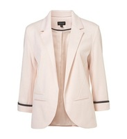 Free Shipping Women Blazers Fashion brand Coat Jacket,Lady plus size   candy color blazer female pink black blue white