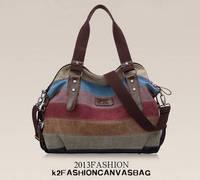 K-988 high quality Fashion Messenger Bags Canvas Super patchwork canvas bag Shopping Tote Handbag Casual Shoulder Bag W52