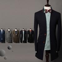 2014 new fashion man's long suits wholesale trade minimalist suit suit jacket and long sections gentleman men suits
