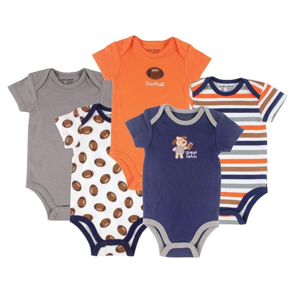 5 stück/lot neuen 2014, sommerkleidung, babyspielanzug, Neugeborenen, baby-kleidung, baby kleidung, bebe, baby insgesamt, säugling