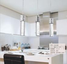 Free shipping Stainless Steel Avize Modern pendant lamp,K9 cytstal  led pendant lamp dining room /bar/ resturant  lighting(China (Mainland))