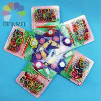 Wholesale 12pcs 2014 New Fashion Colorful DIY Loom Rubber Band Quartz Watch Making Kit For Children