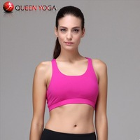 Hot pink sexy girl's bra tops on sale.Fitness bra for women.Plus Size candy color padded yoga bra tops